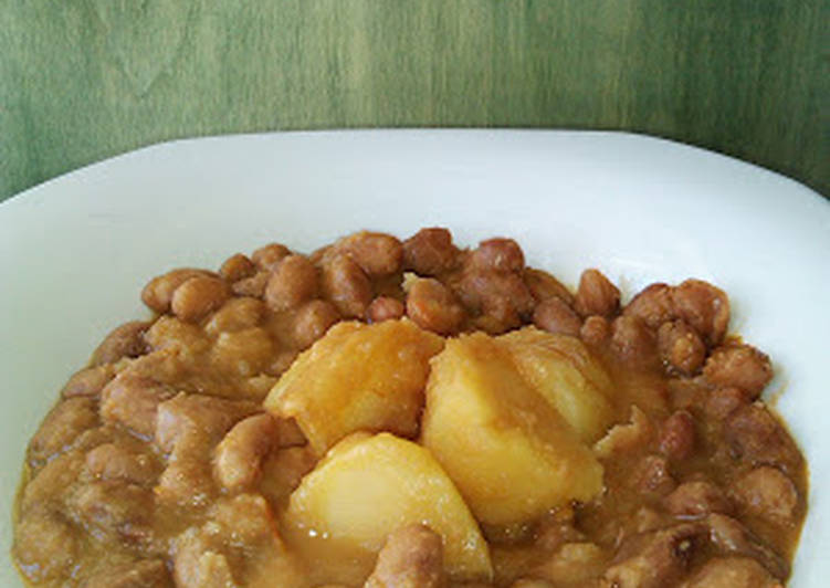 Guiso de jud as pintas con patatas en olla r pida receta - Guiso de judias pintas ...