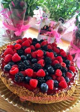 New York Cheesecake con frutas del bosque - tarta de cumpleaños 🎂