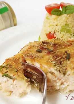 Lomos de salmón con costra de cebolla