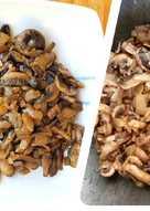 Wok de champiñones roneados