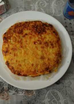 Pastel de patatas, beicon y queso