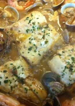 Zarzuela de marisco y pescado 32 recetas caseras cookpad for Cocinar zarzuela
