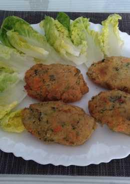 Hamburguesas de patatas y verduras