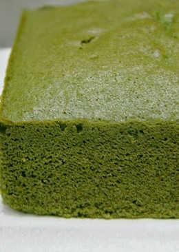 Bizcocho esponjoso básico de Matcha