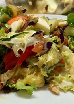Ensalada para la cena con verduras asadas 😋😋