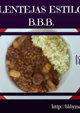Lentejas estilo B.B.B.