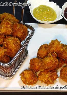 Deliciosas Palomitas de pollo al estilo KFC, caseras y súper fácil