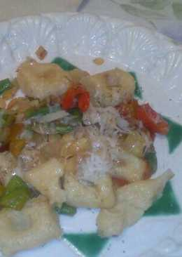 Ñoquis salteados con verduras