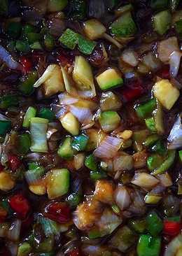 Verduras salteadas con soja