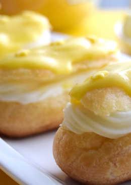 Eclairs con crema de limón