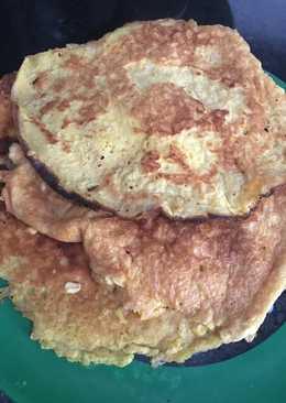 Pancakes nutritivos de avena sabor limón