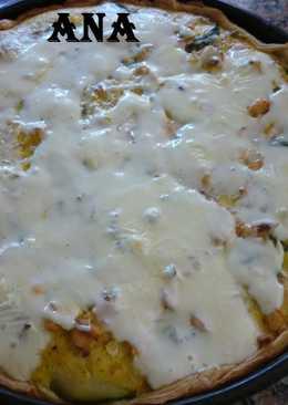 Tarta de zapallitos y pollo