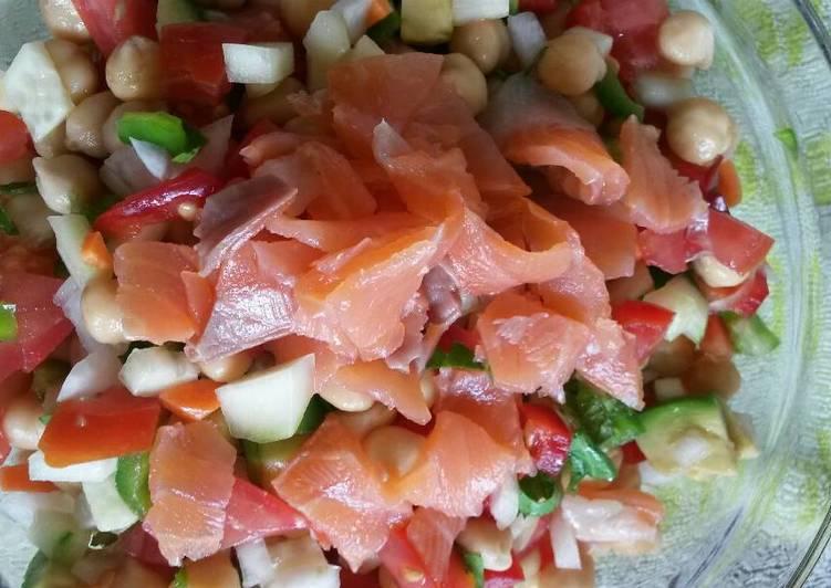Ensalada de garbanzos receta de karlospb cookpad - Ensalada de garbanzos light ...