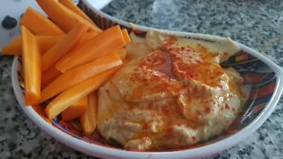 Hummus de garbanzo casero