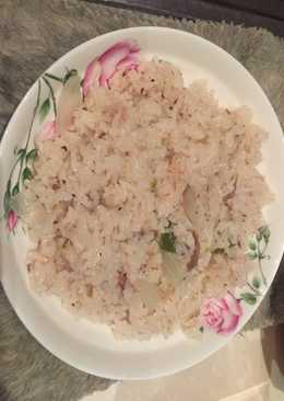 Arroz con salsa d atún