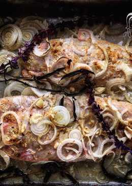 Corvina al horno con ghee, salvia y limón