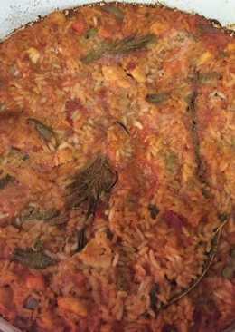 Arroz horneado con pollo al romero🌿