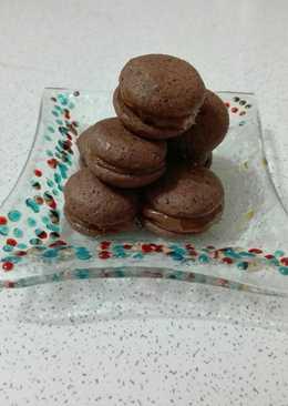 Whoopies de chocolate amargo