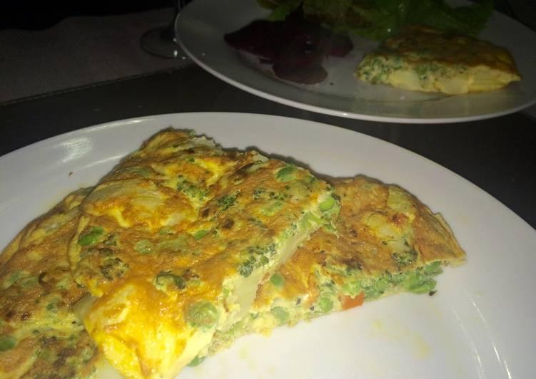Cocina para principiantes tortilla de verduras - Cocina para principiantes ...