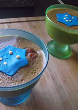 Flan de cafe con higos y fondant