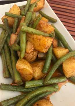 Judías verdes con patatas ajo y pimentón