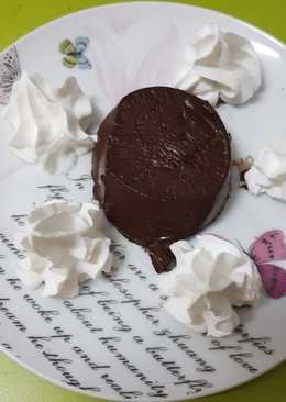 Una gelatina de chocolate light con nata