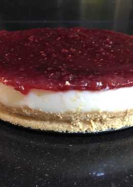 Tarta de queso 🧀 con mermelada de fresa 🍓 o frambuesa