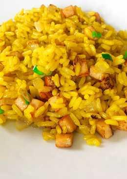 Arroz chino | arroz frito | yellow fried rice