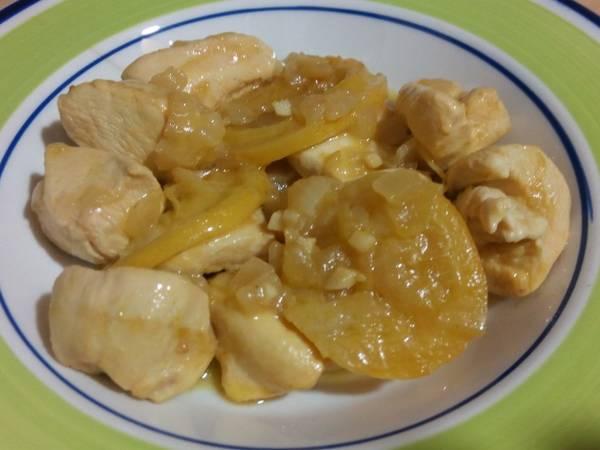 Pollo con limones