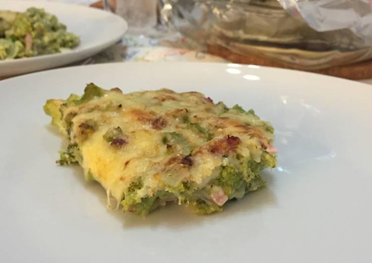 Pastel de brócoli muy fácil y rico