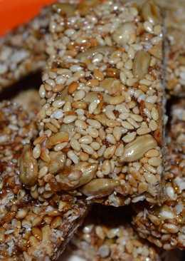 Crocante de ajonjolí, girasol y miel
