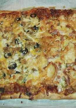 Pizza vegetal y carnivora