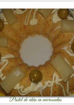 Pastel de atún en microondas