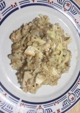 Arroz integral con pollo y mozzarella
