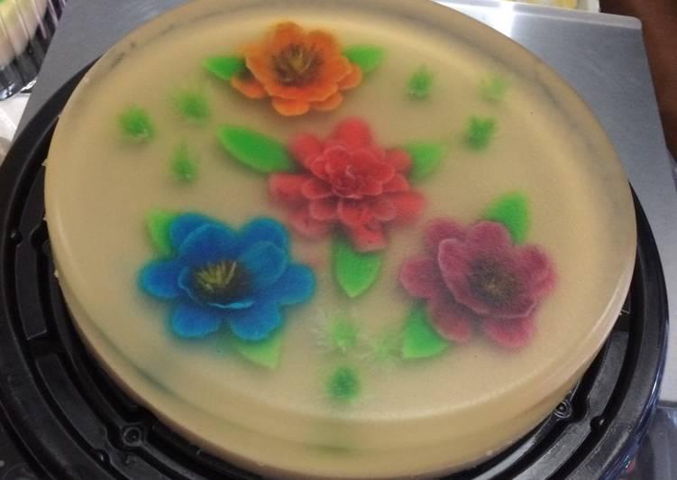 Recetas de gelatinas artisticas flores