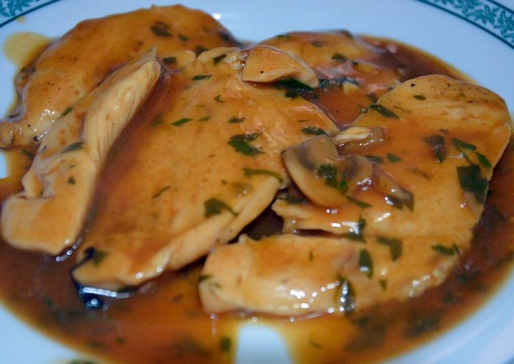 Pechuga de pollo en salsa de champi ones receta de samuel - Pechuga d pollo en salsa ...