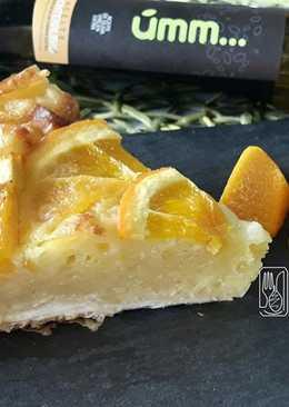 Portokalopita, pastel griego de naranja en GME, F y G y tradicional
