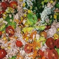 #CocinaRapidayFacil Ensalada de arroz, atún y palta