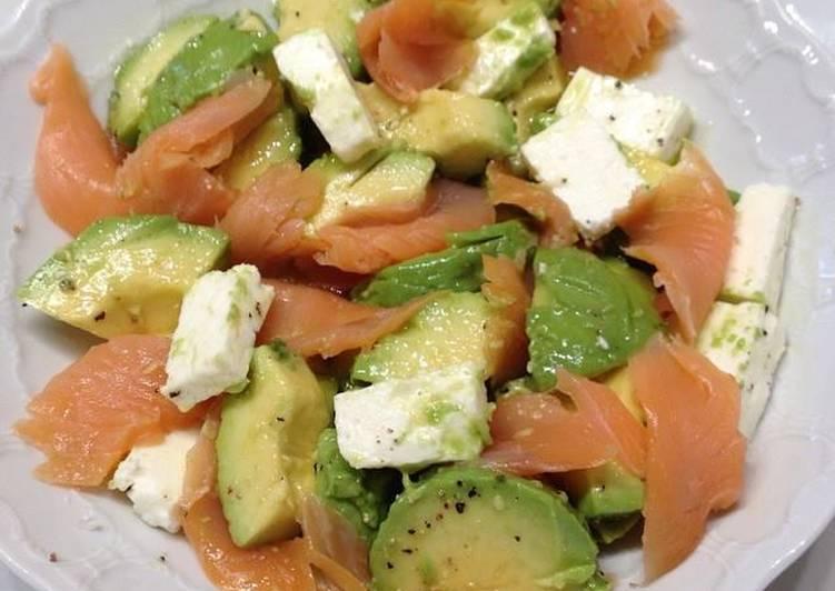 Ensalada f cil de salm n aguacate y queso feta receta de chef diosa cookpad - Ensalada con salmon y aguacate ...