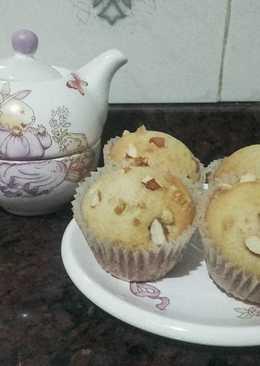 Muffins de nuez y almendra