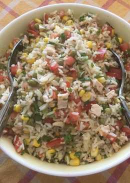 Salpicón de pollo con arroz