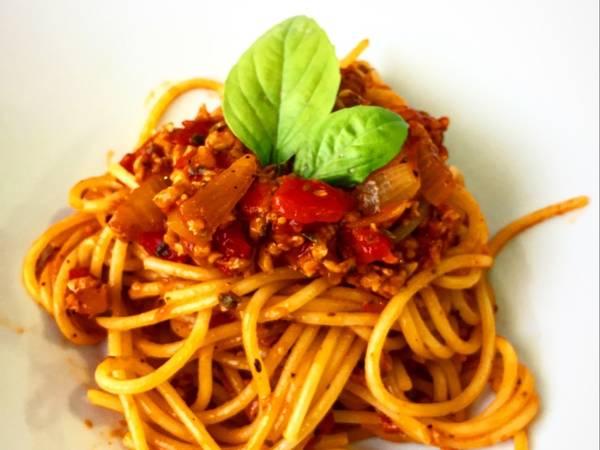 Spaghetti bolegnesa vegana 🍝🍝🍝