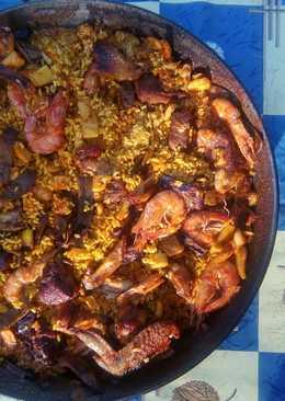 Paella completa (carne, verdura y pescado) 🌄🌅