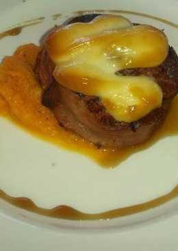 Solomillo de cerdo con foie de pato y calabaza