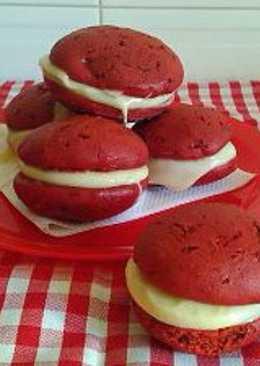 Whoopie Pies de Red Velvet (Veganos)