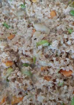 Relleno con soja y verduras para Lasaña, Pimientos o Canelones