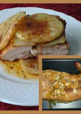 Costillas de cerdo macerada y al horno