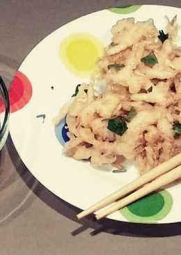 Brotes de soja en tempura