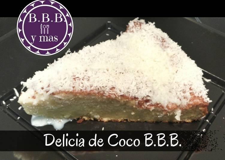 Tarta delicia de coco B.B.B.