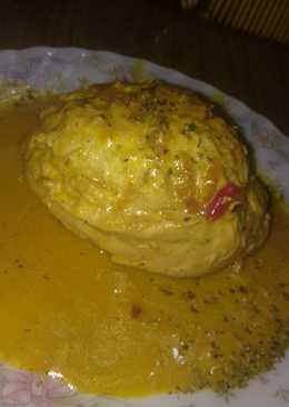 Pechugas rellenas de verduras con salsa de mostaza